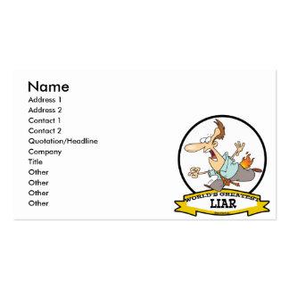WORLDS GREATEST LIAR CARTOON BUSINESS CARD TEMPLATES