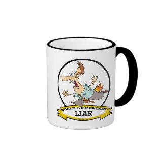 WORLDS GREATEST LIAR CARTOON COFFEE MUGS