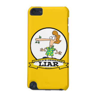 WORLDS GREATEST LIAR WOMEN CARTOON iPod TOUCH (5TH GENERATION) COVERS
