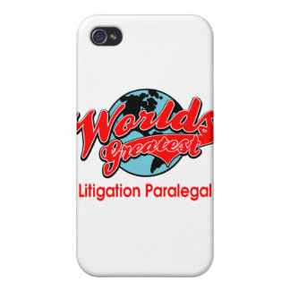 World's Greatest Litigation Paralegal iPhone 4 Cover
