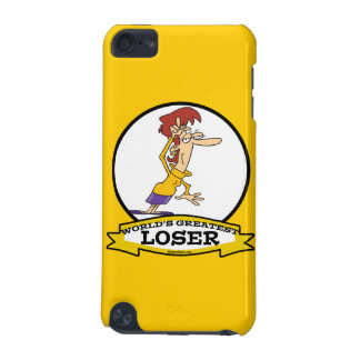 WORLDS GREATEST LOSER LADY WOMEN CARTOON iPod TOUCH (5TH GENERATION) COVERS