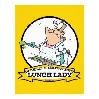 WORLDS GREATEST LUNCH LADY CARTOON 21.5 CM X 28 CM FLYER