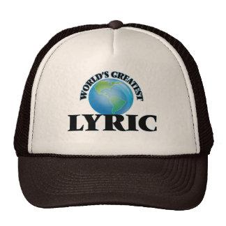 World's Greatest Lyric Hats