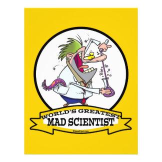 WORLDS GREATEST MAD SCIENTIST MEN CARTOON 21.5 CM X 28 CM FLYER