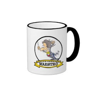 WORLDS GREATEST MAESTRO MEN CARTOON COFFEE MUG