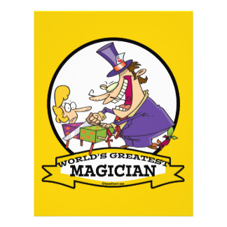 WORLDS GREATEST MAGICIAN II CARTOON FLYER DESIGN
