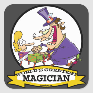 WORLDS GREATEST MAGICIAN II CARTOON STICKER