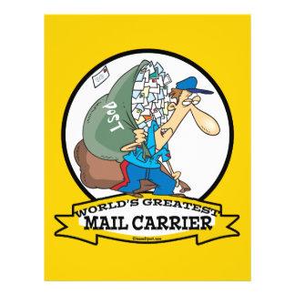 WORLDS GREATEST MAIL CARRIER MEN CARTOON 21.5 CM X 28 CM FLYER