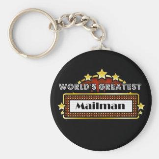 World's Greatest Mailman Basic Round Button Key Ring