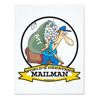 WORLDS GREATEST MAILMAN MEN CARTOON CARD