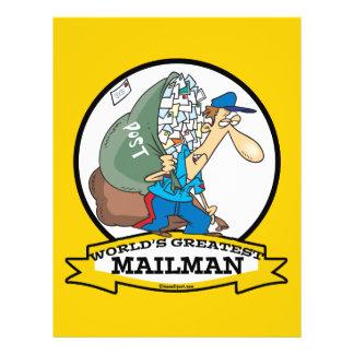 WORLDS GREATEST MAILMAN MEN CARTOON CUSTOM FLYER