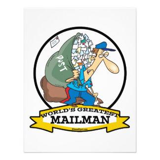 WORLDS GREATEST MAILMAN MEN CARTOON CUSTOM INVITES
