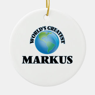 World's Greatest Markus Christmas Ornament