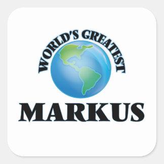 World's Greatest Markus Sticker