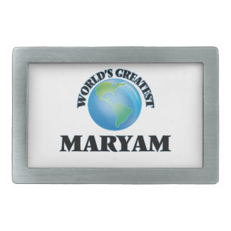 World's Greatest Maryam Rectangular Belt Buckle