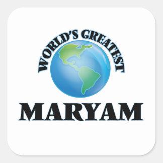 World's Greatest Maryam Square Sticker