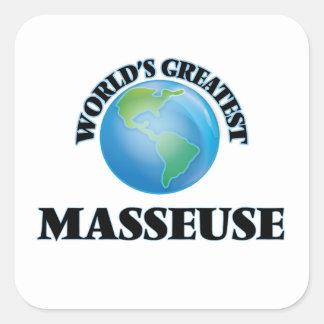 World's Greatest Masseuse Square Sticker