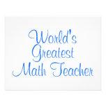 Worlds Greatest Math Teacher Personalized Invitation