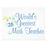 Worlds Greatest Math Teacher Numbers Custom Invitation