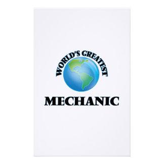 World's Greatest Mechanic Stationery Design