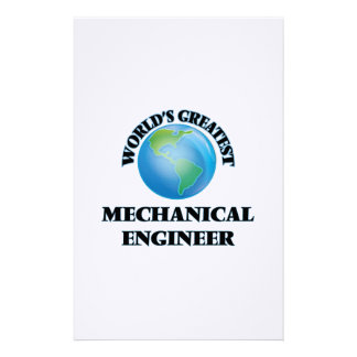 World's Greatest Mechanical Engineer Personalized Stationery