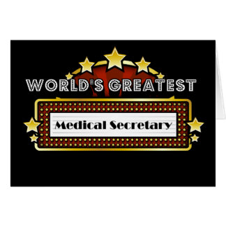 World's Greatest Medical Secretary Card