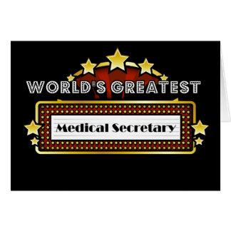 World's Greatest Medical Secretary Greeting Card