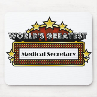 World's Greatest Medical Secretary Mouse Pads