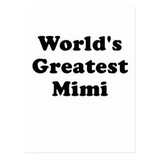 Worlds Greatest Mimi Postcard