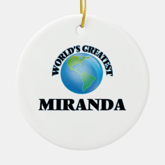 World's Greatest Miranda Double-Sided Ceramic Round Christmas Ornament
