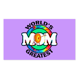 World's Greatest Mom; Archery Pack Of Standard Business Cards
