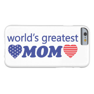 WORLDS GREATEST MOM BARELY THERE iPhone 6 CASE
