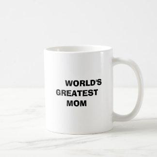 WORLD'S GREATEST MOM BASIC WHITE MUG