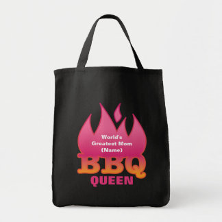 World's Greatest Mom BBQ QUEEN Grocery Tote Bag