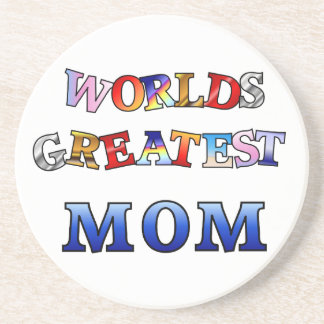 Worlds Greatest Mom Beverage Coasters