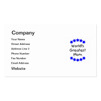 World's Greatest Mom (blue stars) Pack Of Standard Business Cards