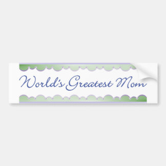 World's Greatest Mom (dragonflies) Bumper Sticker