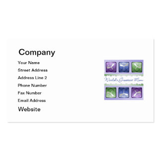 World's Greatest Mom (dragonflies) Pack Of Standard Business Cards