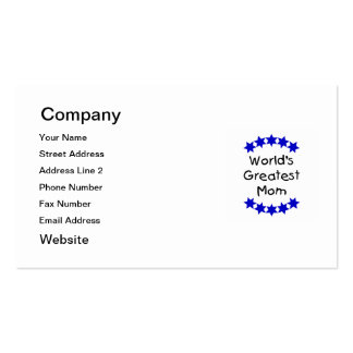 World's Greatest Mom (navy stars) Pack Of Standard Business Cards