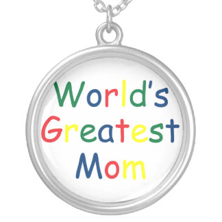 World's Greatest Mom Personalized Necklace