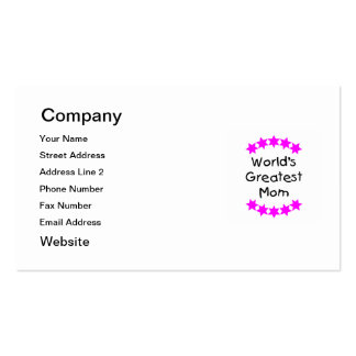 World's Greatest Mom (pink stars) Pack Of Standard Business Cards
