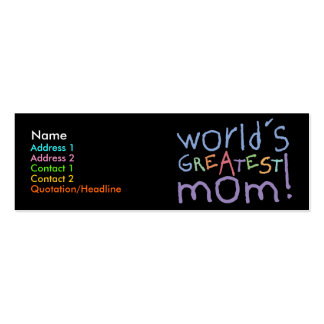 World's Greatest Mom Skinny Profile Cards Pack Of Skinny Business Cards