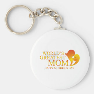 World's Greatest Mom T Shirts Basic Round Button Key Ring