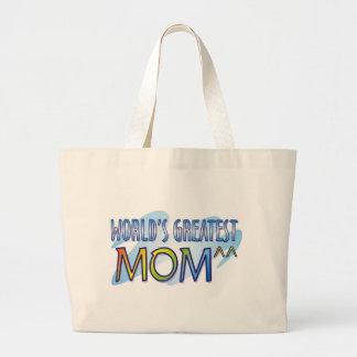 World's Greatest Mom T Shirts Jumbo Tote Bag