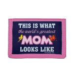 World's Greatest Mom Tri-fold Wallets