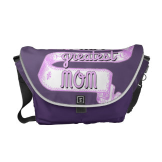 World's Greatest Mom with Ribbon Banner Messenger Bag