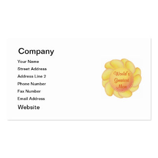 World's Greatest Mom (yellow flower) Pack Of Standard Business Cards