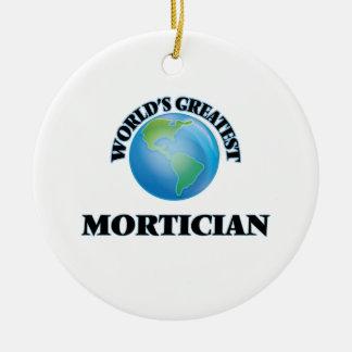 World's Greatest Mortician Round Ceramic Decoration