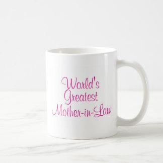 Worlds Greatest Mother In Law Basic White Mug