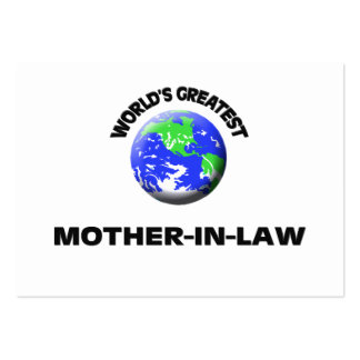 World's Greatest Mother-In-Law Business Card Template